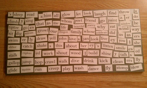 DIY Giant Magnetic Poetry Board