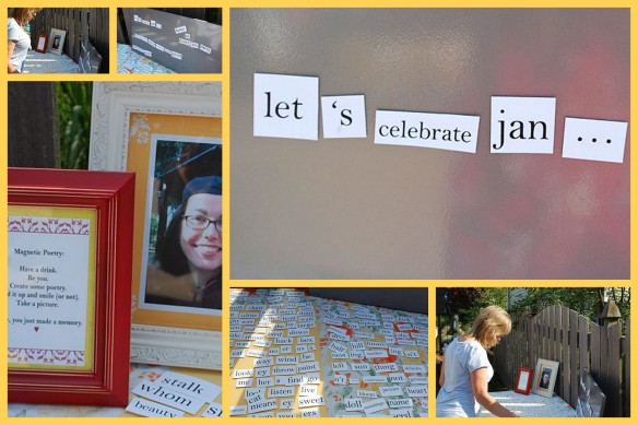 Poetry Party | Giant Magnetic Poetry Board