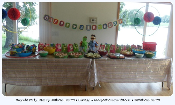 Muppets Party Table by Pastiche Events