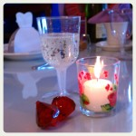 Hand-painted Glass Votives (made it to LA safely, all the way from Chicago!).