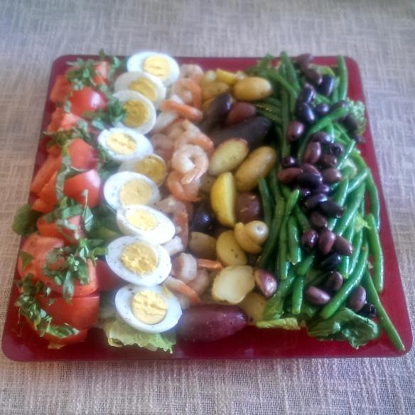 Shrimp Nicoise Salad Platter