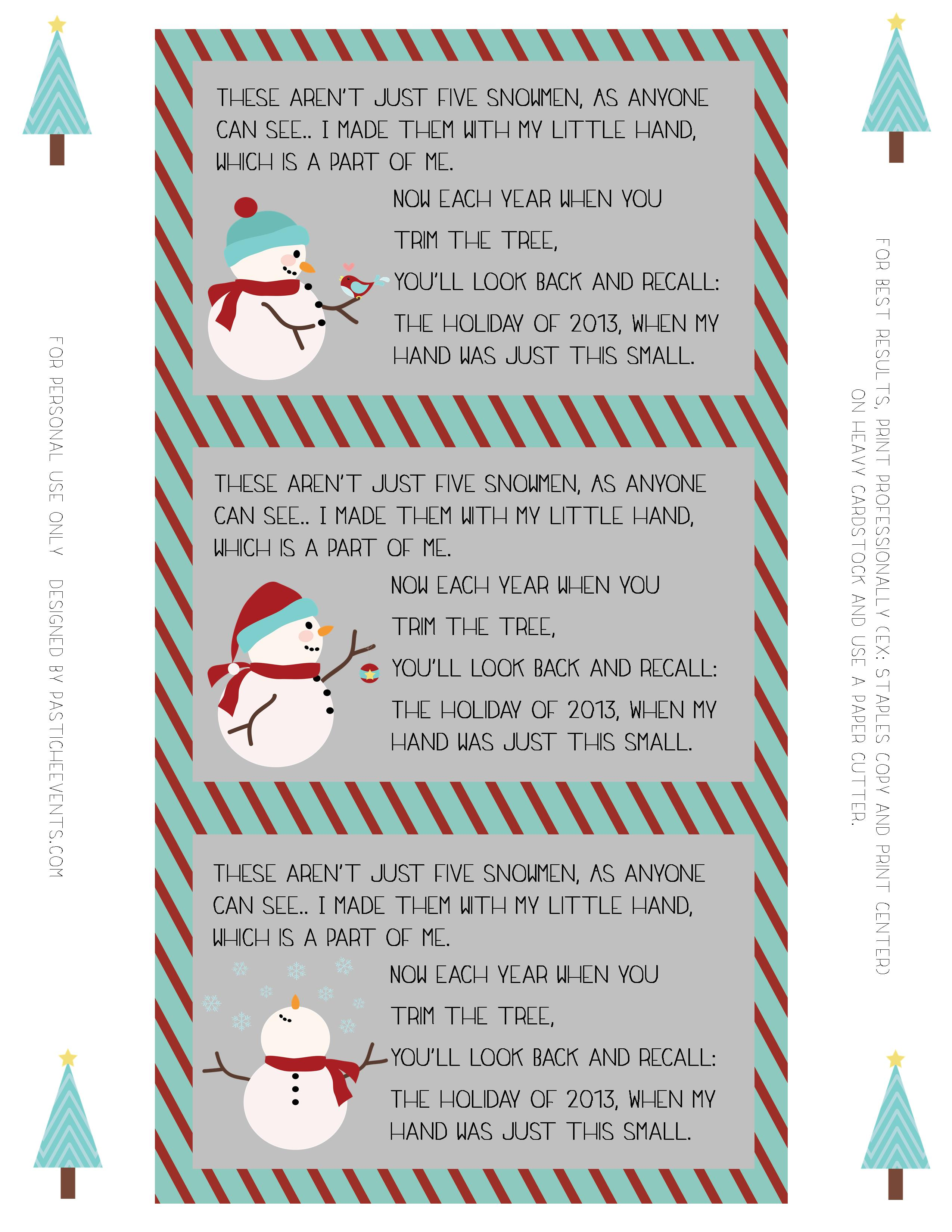 """Search Results for """"Poem With Snowman Ornament"""" – Calendar ..."""