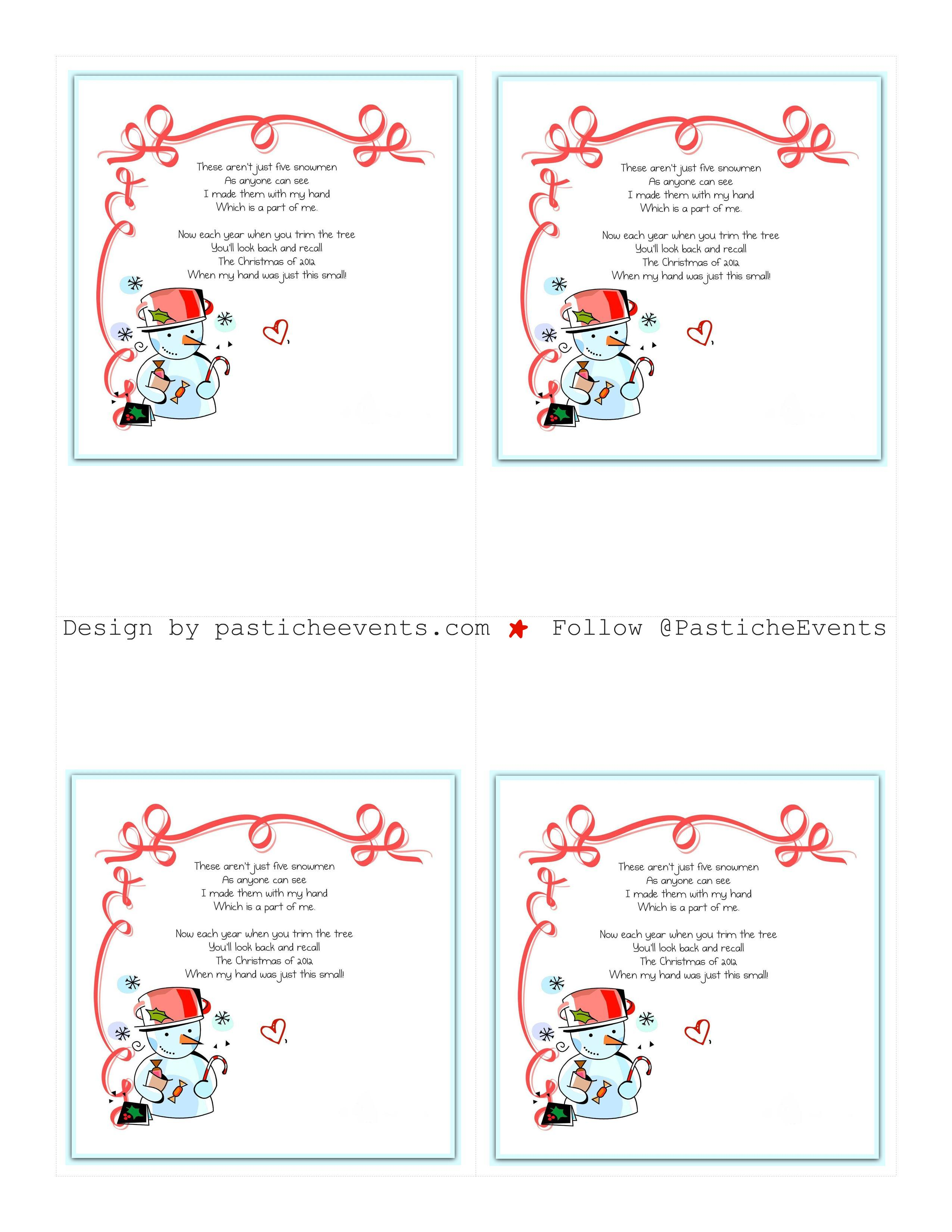 Christmas Ornament Poems Part  18 Pinterest Christmas Craft