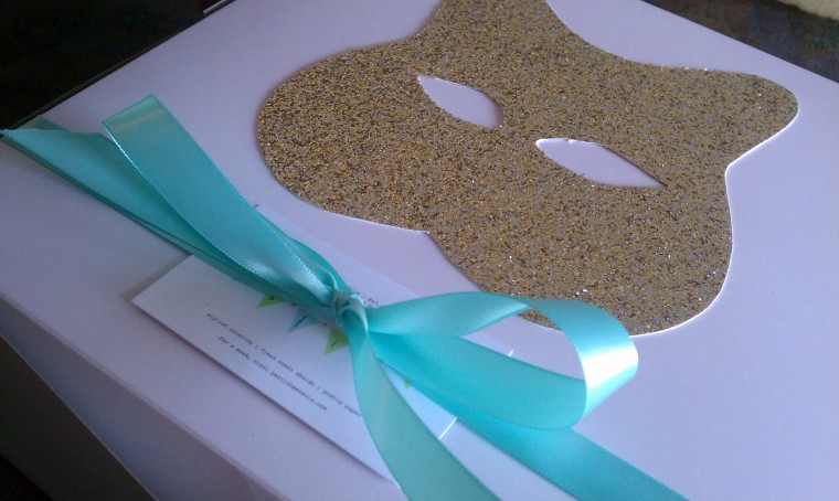 Gold Glitter Kitty Cupcake Box