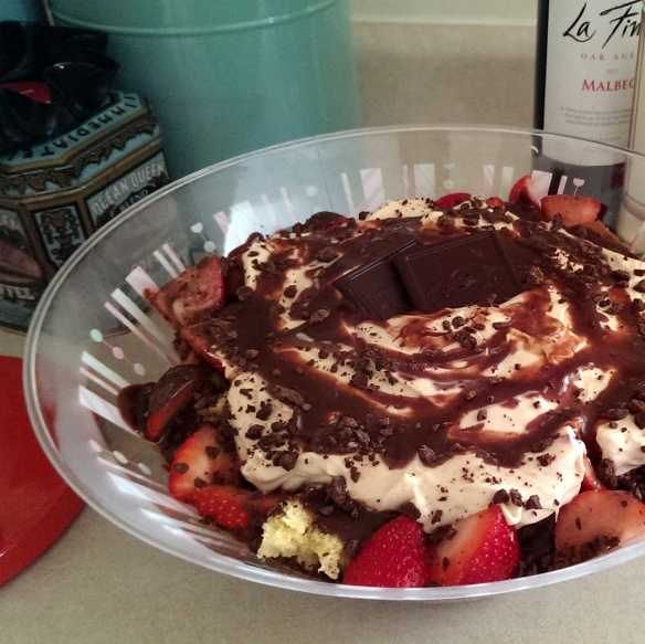 Chocolate Espresso Panettone Trifle in Bowl