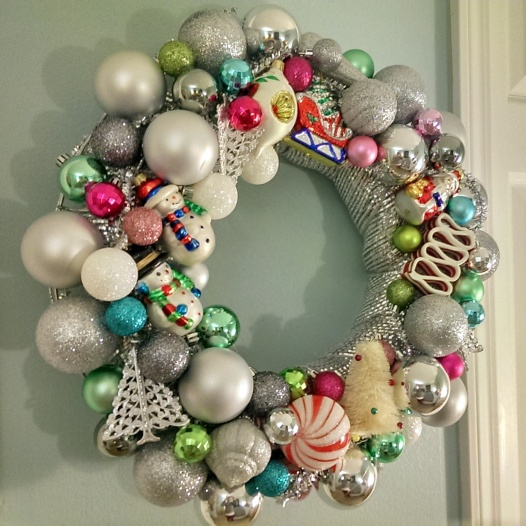Vintage Ornaments Wreath