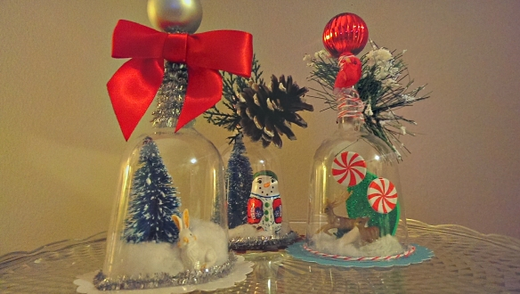 Pinterest Crafting Party - Christmas DIY Bell Jar or Cupcake Ornaments