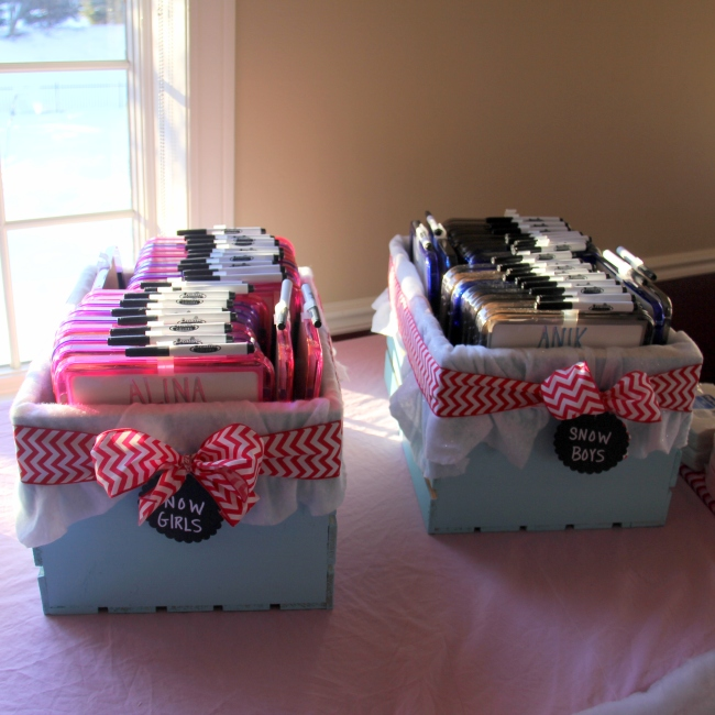 Personalized Dry Erase Board Favors | Winter Onederland Birthday Party by Pastiche Events