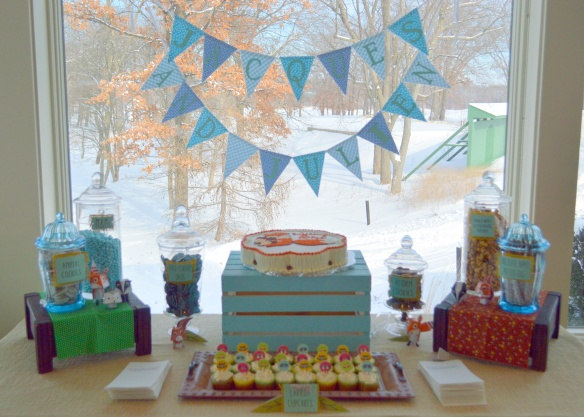 Forest Friends Sweet Table for Twin Boys by Pastiche Events, Chicago.
