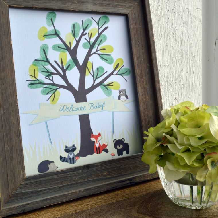 Forest Friends Thumb Print Tree by PAPERandPASTICHE.etsy.com