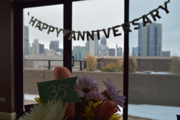 Coral and Jade 35th Wedding Anniversary by Pastiche Events | Chicago