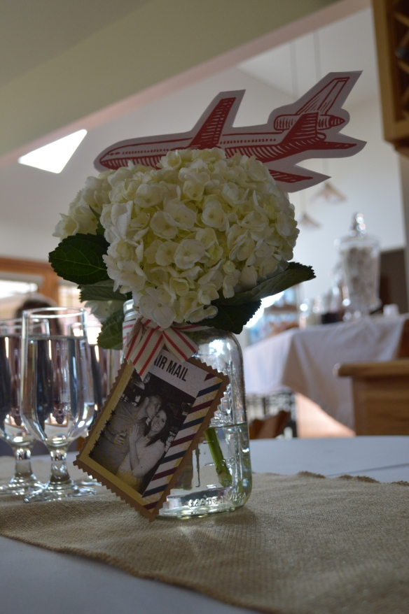 Love is a Journey Bridal Shower by Pastiche Events | Centerpieces