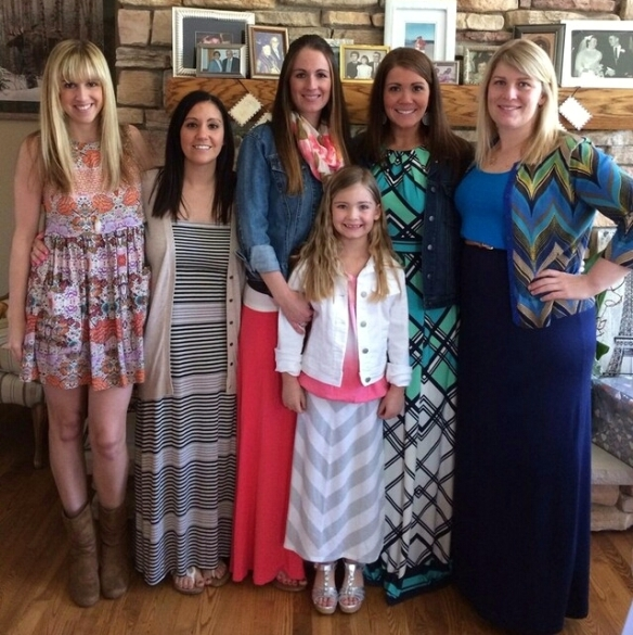 Love is a Journey Bridal Shower by Pastiche Events | The Pretty Bridal Party and Guest of Honor