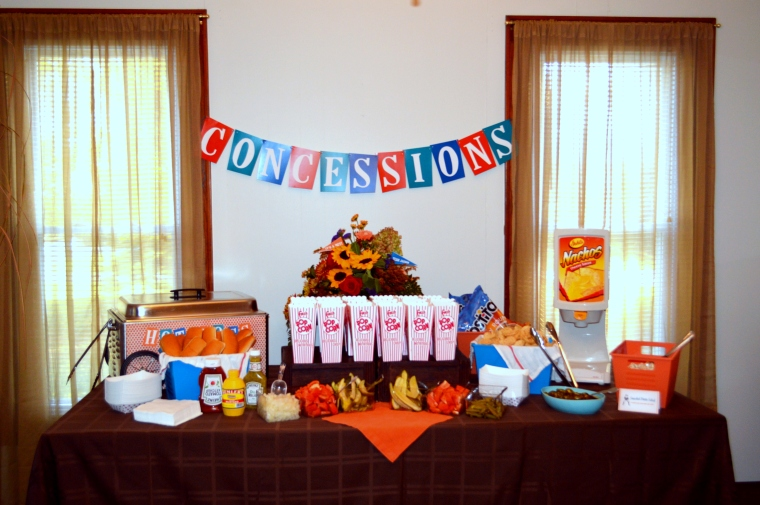 Vintage Fall Baseball Baby Shower by Pastiche Events - Concessions Stand