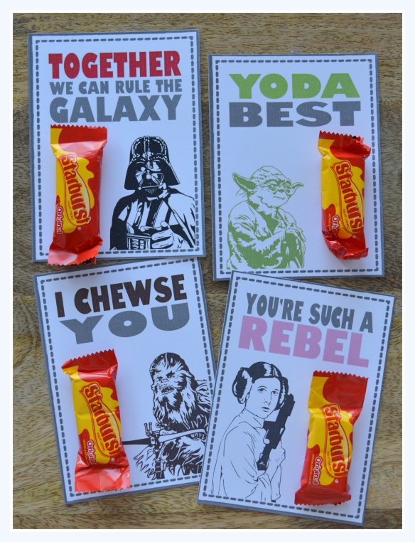 Star Wars Valentines - Free Printable 2015
